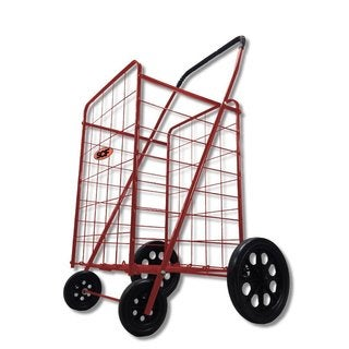 SCF MegaCart Red Fold-Up Collapsible Shopping Utility Cart