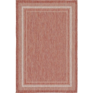 Turkish Indoor/Outdoor Rust Polypropylene Rug (6' x 8' 11)