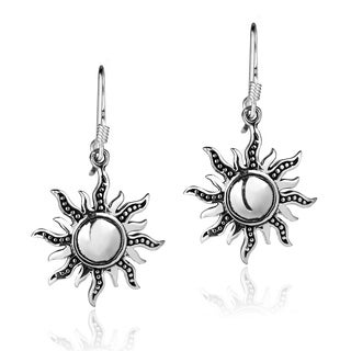 Dancing Mystical Sunshine Sterling Silver Dangle Earrings (Thailand)