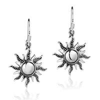 Handmade Dancing Mystical Sunshine Sterling Silver Dangle Earrings (Thailand)