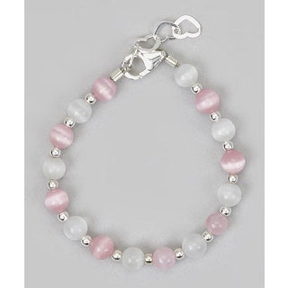 Crystal Dream Luxury Pearl Sterling Silver Infant Girl Bracelet (5 options available)