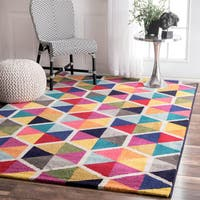 nuLOOM Contemporary Triangle Mosaic Multi Rug (8'x 10') - 8' x 10'