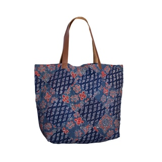 Kantha Diamond Tote - Atlantic (India)
