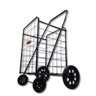 SCF MegaCart Black Fold-up Collapsible Shopping Utility Cart