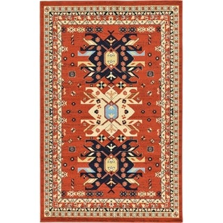 Turkish Heriz Rust Polypropylene Rug (6' x 8' 11)