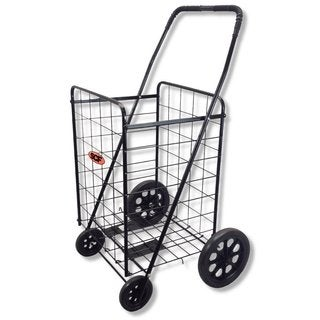 SCF Black Standard Jumbo Utility Grocery Cart
