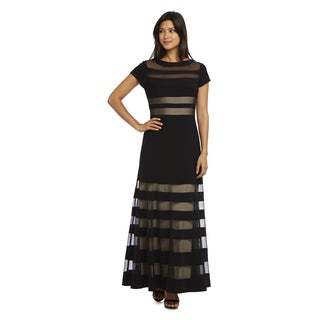 R&M Richards Sheer Long Dress