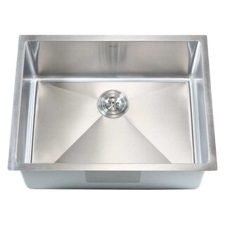16-gauge Stainless Steel 15-millimeter Radius 23-inch Single Bowl Undermount Kitchen Sink