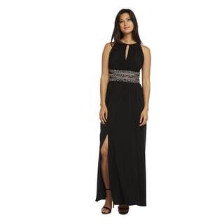 R&M Richards Beaded Waist Gown
