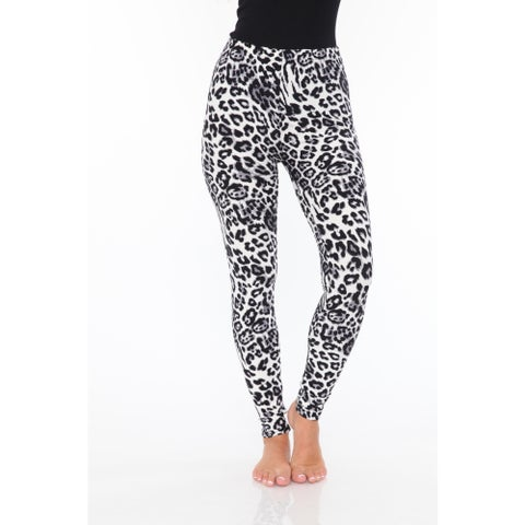 White Mark Women's Printed Leggings