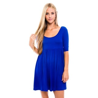 Women's Royal Rayon/Spandex Baby Doll Dress