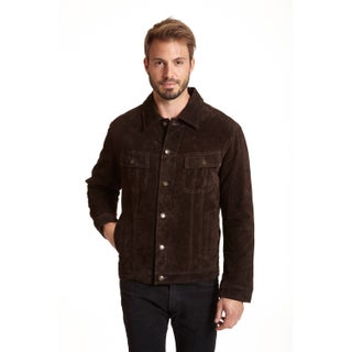 Excelled Men's Big and Tall Suede Shirt Collar Jacket (2 options available)