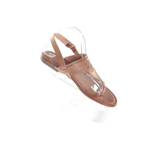 Hadari Women's Brown Wrap Around Hook and Loopw Strap Thong Flat Sandal