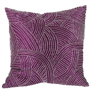 18-inch x 18-inch Poly Silk Beaded Pillow