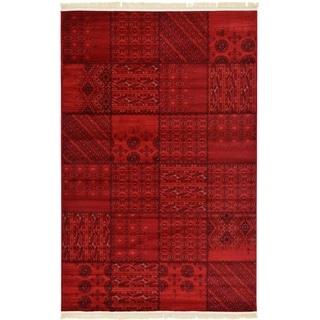 Turkish Bokhara Red Polypropylene Rug (6' x 8' 11)