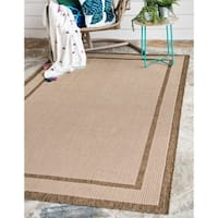 Unique Loom Border Outdoor Area Rug - 5' 3 x 8'
