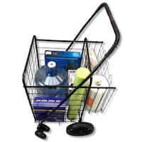 Premium Swivel Wheels Jumbo Folding Shopping Grocery Laundry Cart with Extra Basket and Free Cargo Net