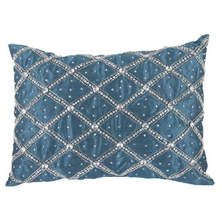 14-inch x 20-inch Poly Silk Rhinestone Pillow
