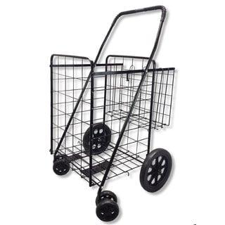 UPT Black Jumbo Folding Shopping Cart