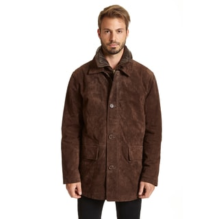 Excelled Men's Big and Tall Suede Double-collar Jacket
