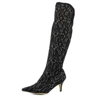 All Black Women's 'Her Highness' Fabric Boots