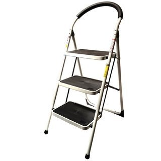 StepUp Heavy Duty Steel-reinforced 330-pound-capacity Folding 3-step Ladder Stool