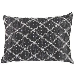 P)oly Silk Rhinestone 14-inch x 20-inch Pillow