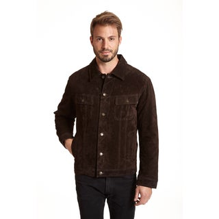 Excelled Men's Suede Shirt Collar Jacket
