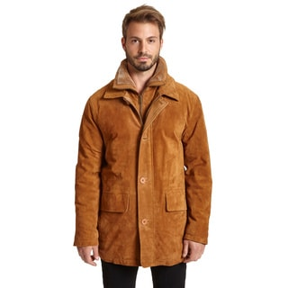 Excelled Men's Suede Double Collar Jacket