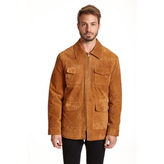Excelled Men's Suede Shirt Jacket
