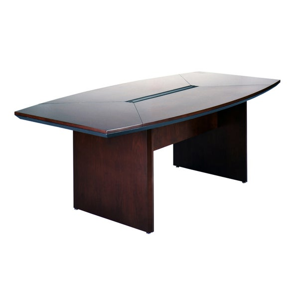 Shop Mayline Napoli W X D BoatShaped Conference Table On - D shaped conference table