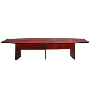 Mayline Corsica Series 12-foot Boat-Shaped Conference Table