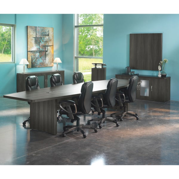 Shop Mayline Aberdeen Boat Shape Conference Table Free - 12 ft conference table
