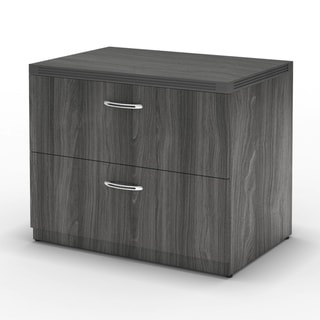 Mayline Aberdeen 30 Freestanding Lateral File with 2 Drawers, Letter/Legal (Grey)