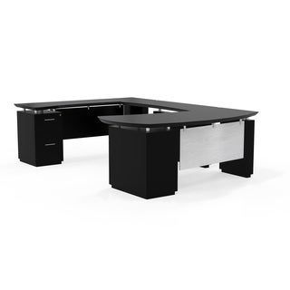 Mayline Sterling Series Right-handed 72-inch Desk System with U-Shaped Desk