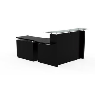 Mayline Sterling Series 72-inch Reception Desk with Single-door Lateral File Cabinet Reception De