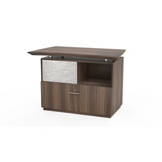 Mayline Sterling Series Reception Lateral File With Sliding Acrylic Door Reception Desk