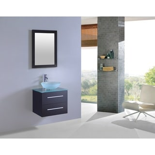 Legion Furniture 24-inch Wall-mount Bathroom Vanity with Matching Mirror