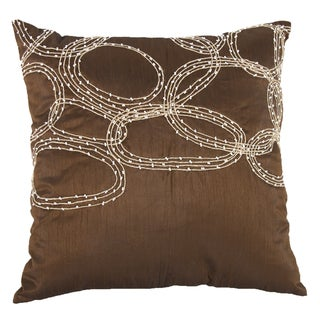 18-inch x 18-inch Polyester Silk Beaded Pillow
