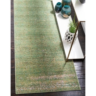 Turkish Aria Green Polypropylene Rug (6' x 8' 11)