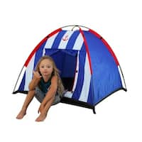 Nautical Blue Striped Dome Tent with Carrying Case