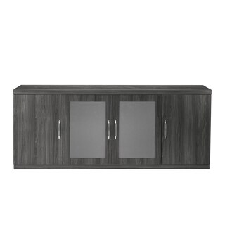 Mayline Aberdeen Low Wall Cabinet with 2 Glass and 2 Wood Doors