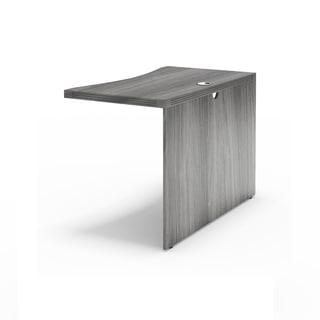 Mayline Aberdeen Series 42-inch Executive Desk Contour Bridge