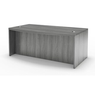"Mayline Aberdeen 66"" Bow Front Desk with Modesty Panel"