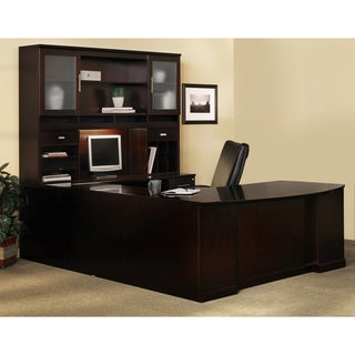 Mayline Sorrento Series Typical #5 Wood Veneer Office Suite