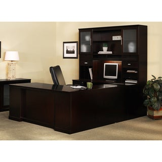 Mayline Sorrento Series Wood Veneer Number-4 Office Suite Set