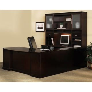 Mayline Sorrento Series Brown Veneer Office Suite