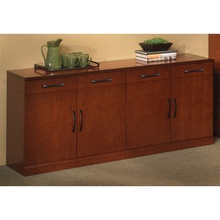 Mayline Sorrento Series Veneer Buffet Cabinet Storage Option