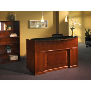 Mayline Sorrento Series Reception Stations/Occasional Table Reception Desk With Marble Counter