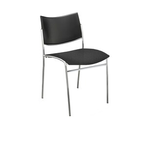 Mayline Escalate Series Black Cushioned Seat with Plastic Back Visitor Chair